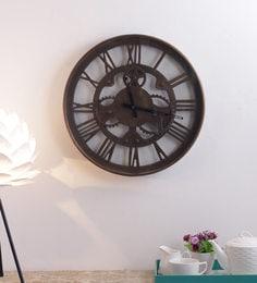 Antique Brass Vintage Wall Clock - 1697148