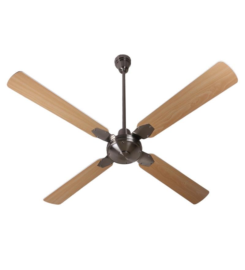 Anemos Classic Brushed Nickel 1370 MM Oak Designer Ceiling Fan