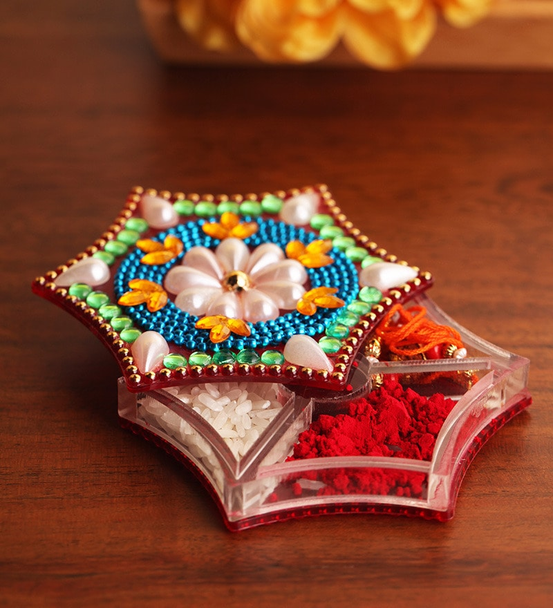 Multicolour Acrylic Accessory Box by Anisha Creatives