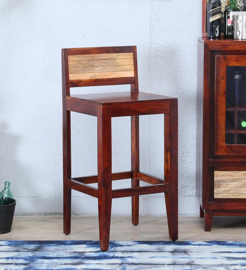 Anitz Bar Chair in Dual Tone Finish by Woodsworth