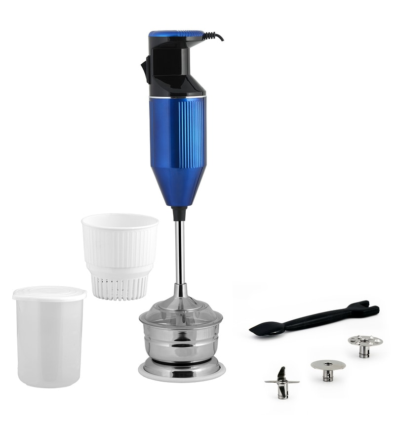 Anjalimix 200W Metallica Hand Blender with Chutney & Soup Attachment