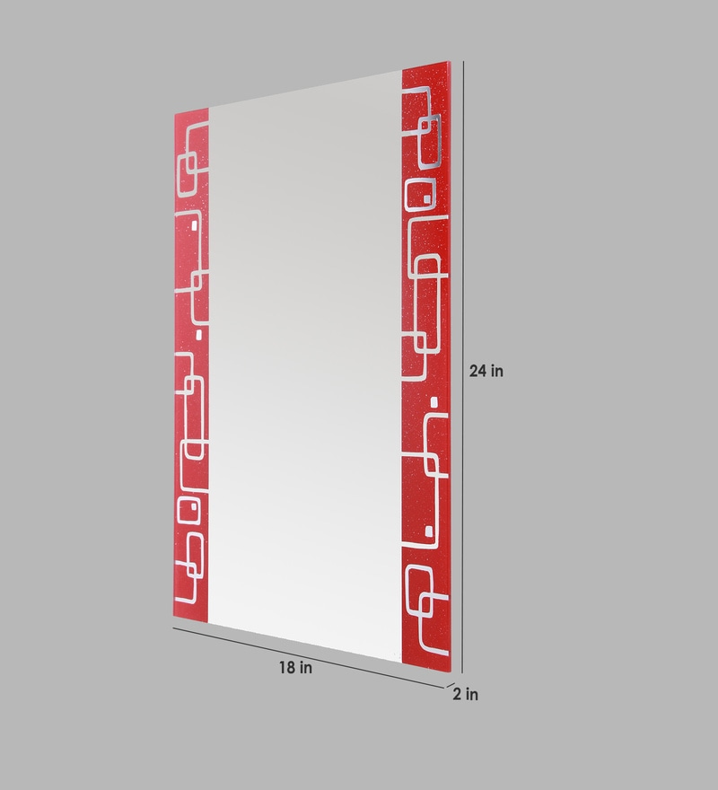 Bathroom Mirror Kolkata buy ankur bathfit red design bathroom mirror online - wall mirrors