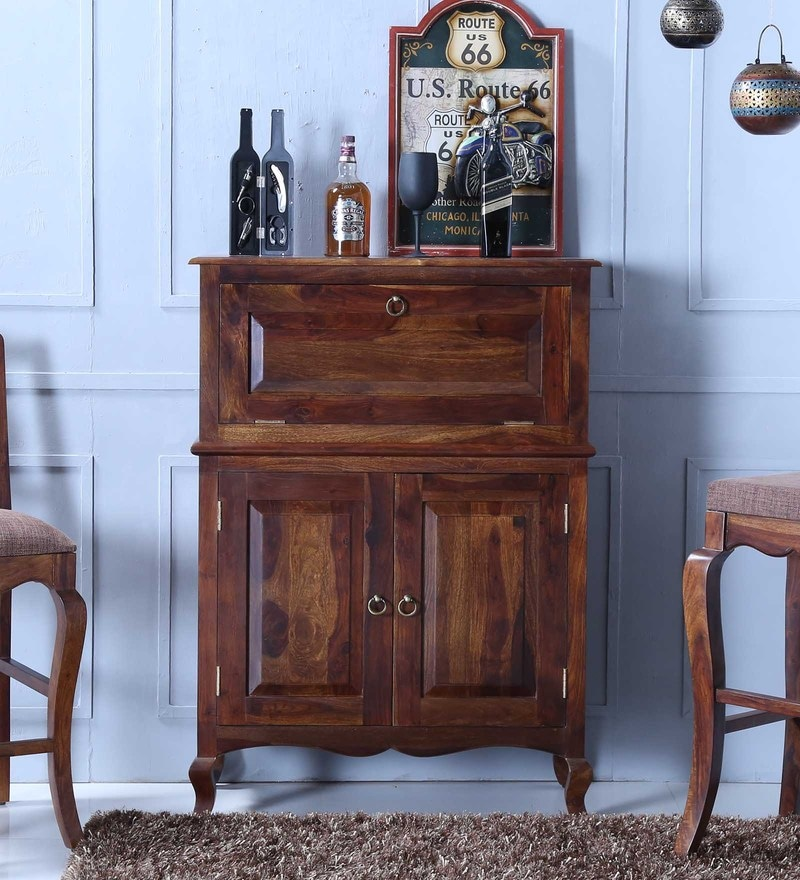 Anne Bar Cabinet in Provincial Teak Finish by Amberville