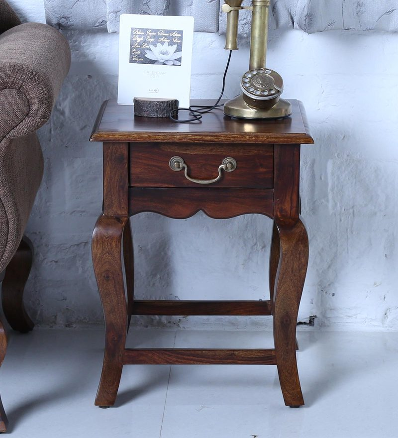 Anne End Table in Provincial Teak Finish by Amberville