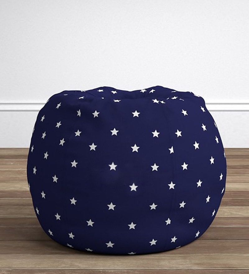 Anywhere Kids' Bean Bag Cover Only in Starry Blue by My Gift Booth