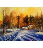 Hashtag Decor an Evening in Winter Engineered Wood 30 x 20 Inch Framed Art Panel