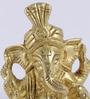 Antique Yellow Brass Pagri Ganesha Showpiece by Handecor