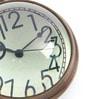 Anantaran Brown Brass Half Round Paper Weight Table Clock