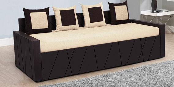 Apollo Sofa Bed With 4 Cushions In Cream Colour