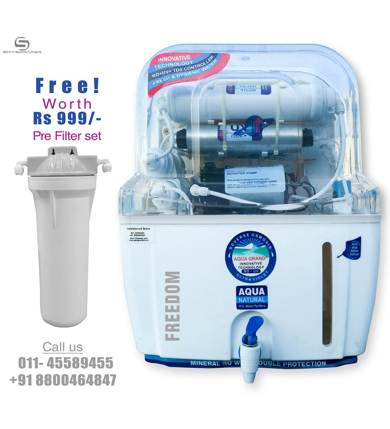 Aquagrand Plus Freedom 12 L RO + UV + UF Water Purifier