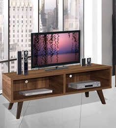 Arata Entertainment Unit With Two Slots In Oak Finish