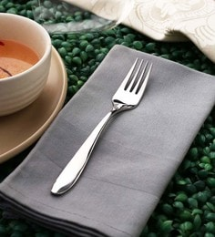 Sanjeev Kapoor Arc Dessert Forks Silver Premium Stainless Steel - Set Of 6