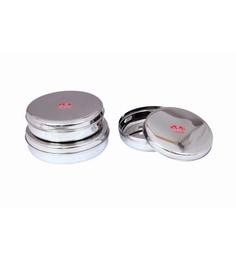 Aristo Stainless Steel Round 1500 Ml, 1750 Ml, 2250 Ml Container - Set Of 3