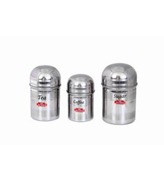 Aristo Stainless Steel Round 350 Ml, 500 Ml, 750 Ml Container - Set Of 3