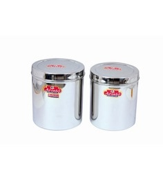 Aristo Stainless Steel Round 3500 Ml, 4250 Ml Container - Set Of 2