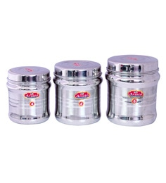 Aristo Stainless Steel Storage Containers - Set Of 3