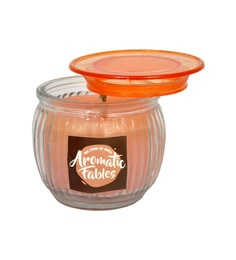 Aromatic Fables Pink Wax Scented Decorative Gifting Candle - 1604903