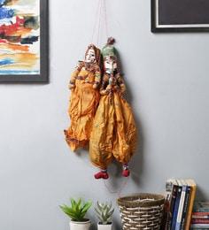 Yellow Cloth Pupet Wall Hangings - Set Of 2
