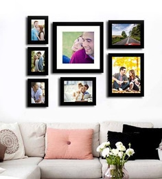 Art Street Black Fibre Wood Cultured Individual Wall Photo Frame - Set of 7 at pepperfry