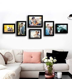 Bollywood Theme Plant Pattern Wall Hanging Picture Frame Set Sofa Bedroom Hallway Wall Decor Photo Frame Wooden Photo Frames Frame
