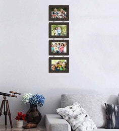 Art Street Synthetic Wood 31 X 9 Pearl Drop Photo Frame  - Set Of 4 - 1605943