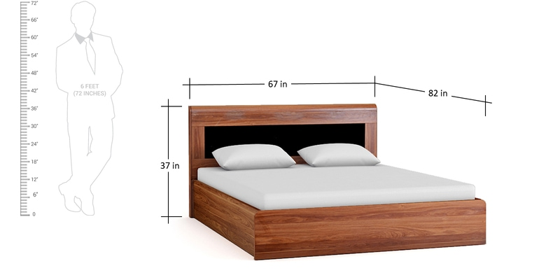 A Room Fit For An Archer: Buy Archer Queen Size Bed In American Walnut Finish By