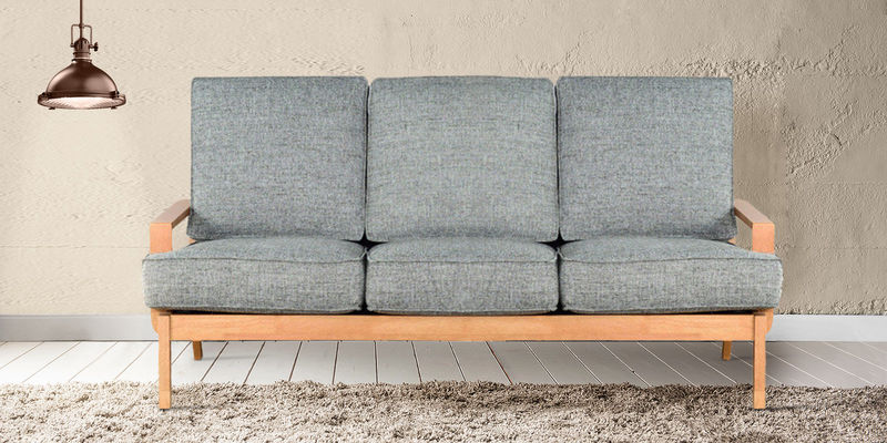 Arequipa Three Seater Sofa in Grey Colour by CasaCraft