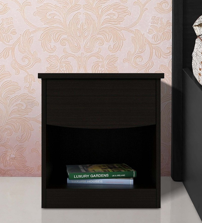 Arko Bedside Table in Wenge Finish by Spacewood