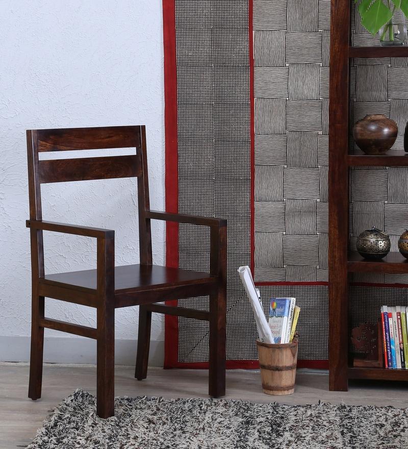 Enkel Arm Chair in Provincial Teak Finish by Woodsworth