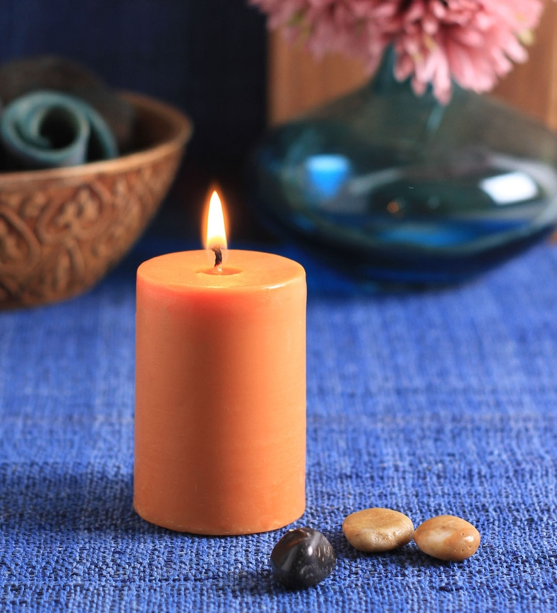 Sandalwood Scented Pillar Candle by Aroma India