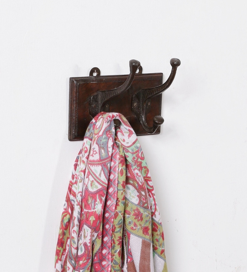 Brown Solidwood Key Holder by Art of Jodhpur