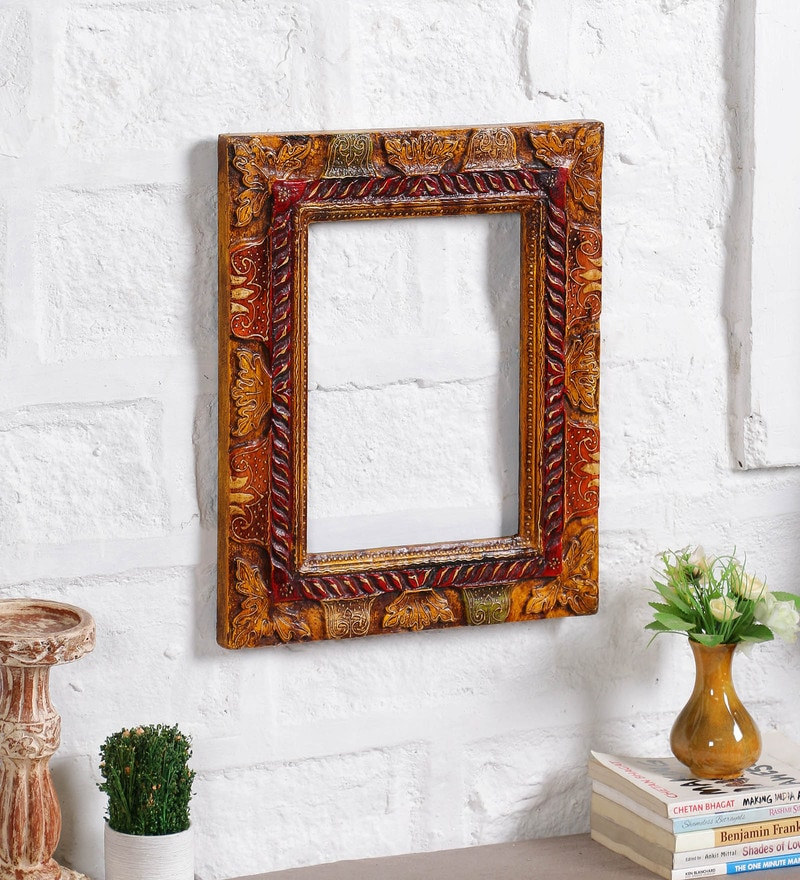 Multicolor Solid Wood 14 x 17 Inch Single Photo Frame by Art of Jodhpur