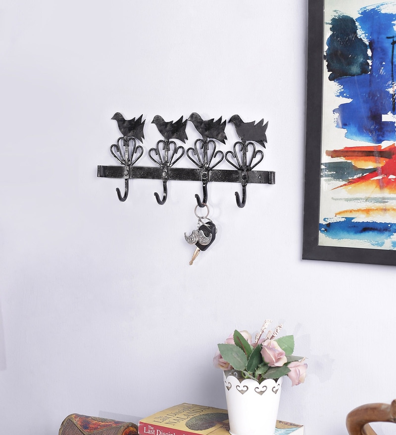 Black Metal Key Holder by Art of Jodhpur
