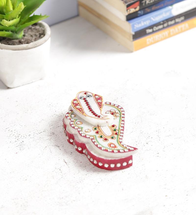 Art of Jodhpur Multicolour Marble Festive Box