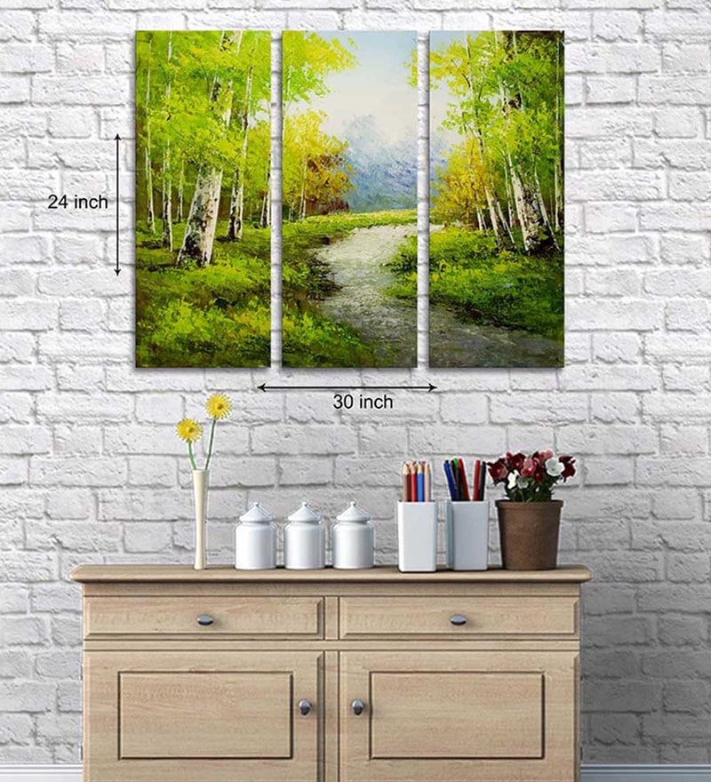 Cotton & Canvas 24 x 30 Inch Scenic Canvas Art - Set of 3 by Art Street