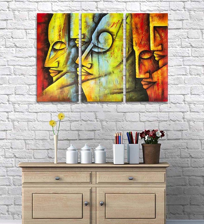 Cotton & Canvas 24 x 36 Inch Free Spirits Figurative Art Canvas Print - Set of 3 by Art Street