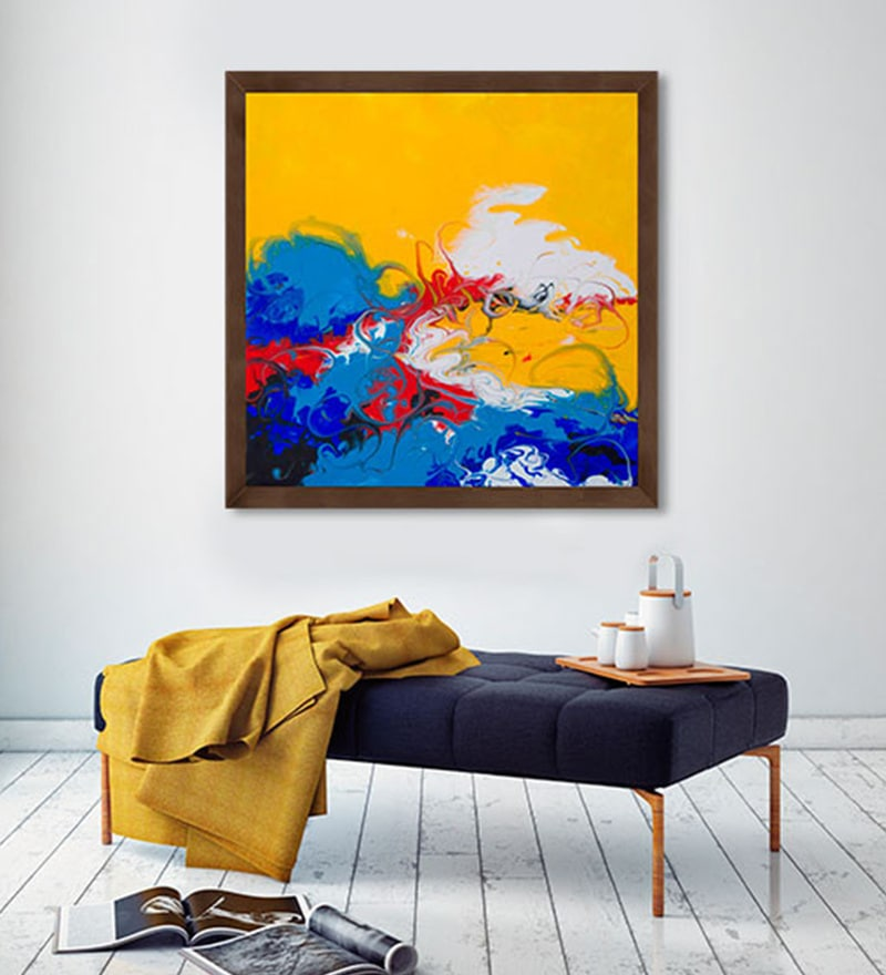 Canvas 24 x 24 Inch Abstract - 3 Framed Limited Edition Digital Art Print by Avtar Singh by ArtCollective