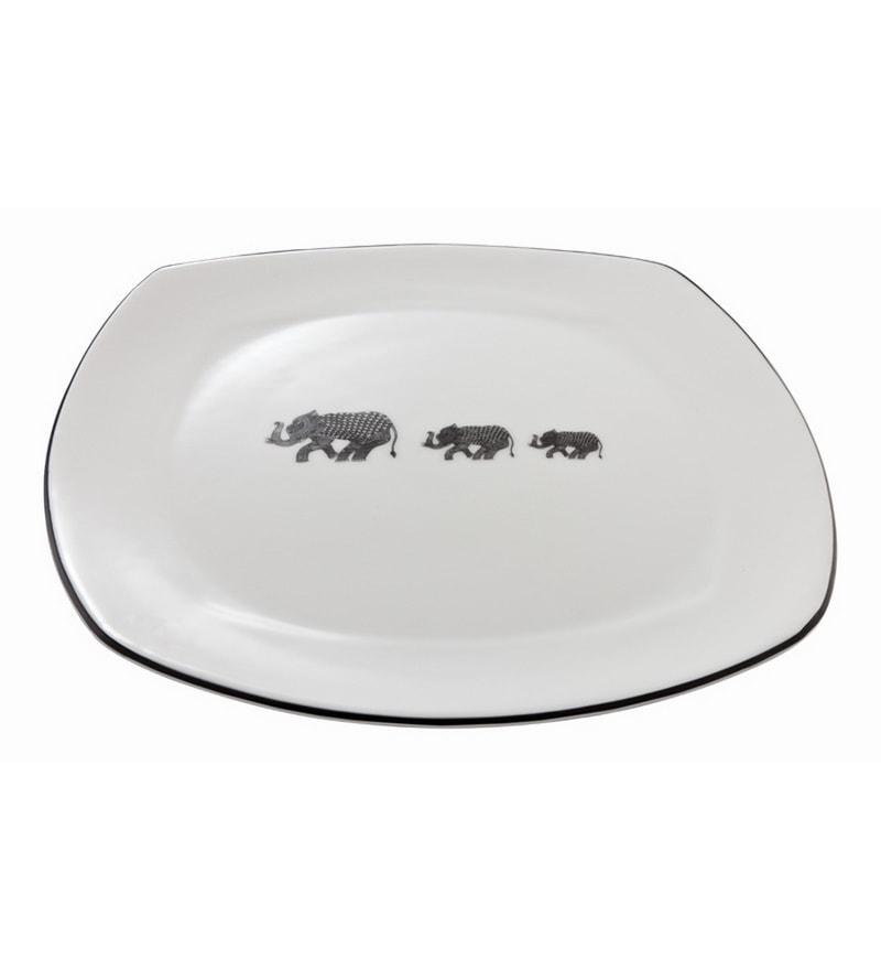 Arttdinox Heritage Ceramic Dinner Plates - Set of 6