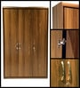 Archer Three Door Wardrobe in Walnut Finish by HomeTown