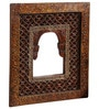 Art of Jodhpur Brown Solidwood  Rajputana Jharokha