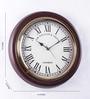 Artshai Brown Mdf & Brass Vintage Hand Crafted Wall Clock