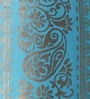 At Home Turquoise Cotton 106 x 53 Inch Door Curtain