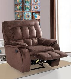 Augusta One Seater Manual Recliner in Chocolate Brown Colour & One Seater Sofa Recliners - Buy One Seater Sofa Recliners Online ... islam-shia.org