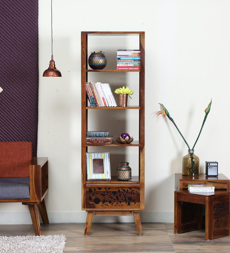 Aura Book Shelf in Provincial Teak Finish by Woodsworth