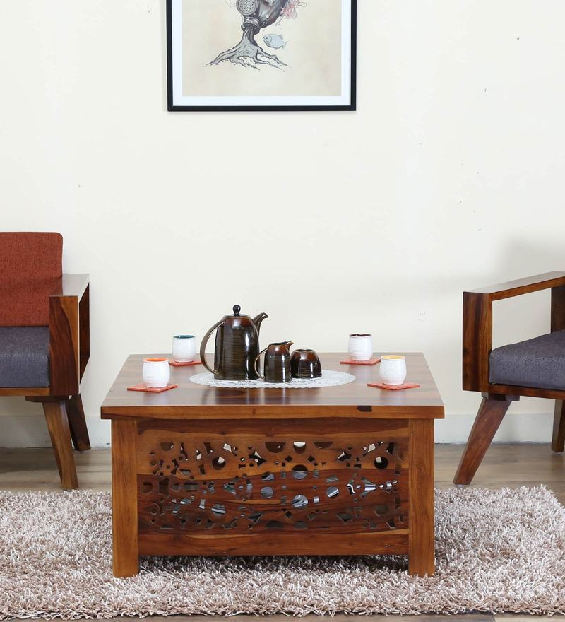 Aura Coffee Table in Provincial Teak Finish by Woodsworth