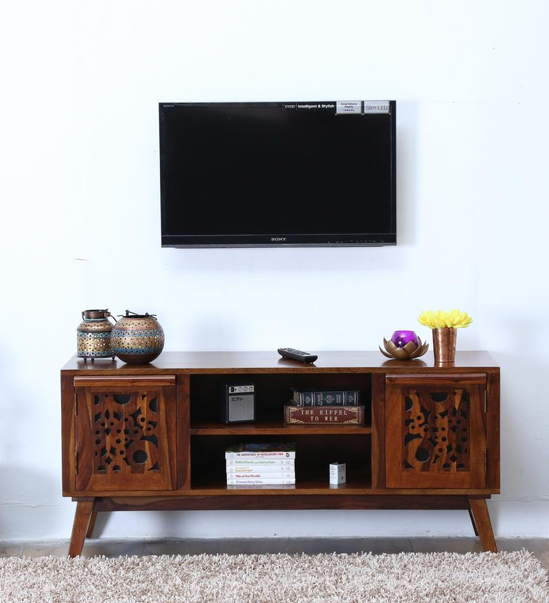 Aura Entertainment Unit in Provincial Teak Finish by Woodsworth