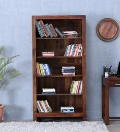 Avian Tall Book Shelf In Provincial Teak Finish