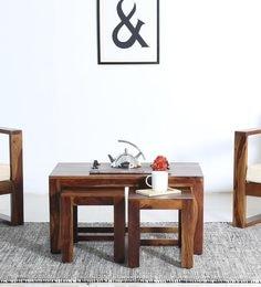 Avian Coffee Table Set In Provincial Teak Finish