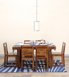 Avian Six Seater Dining Set In Provincial Teak Finish