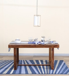 Avian Six Seater Dining Table In Provincial Teak Finish